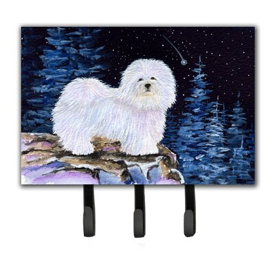 Starry Night Coton De Tulear Leash Holder and Key Holder