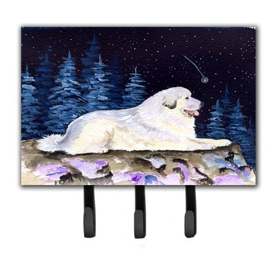 Starry Night Great Pyrenees Leash Holder and Key Holder
