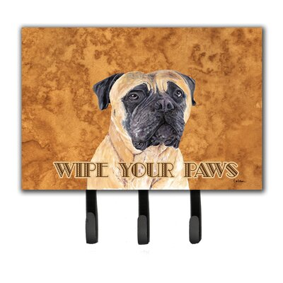 Mastiff Wipe Your Paws Leash Holder and Key Hook