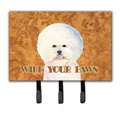 Bichon Frise Wipe Your Paws Leash Holder and Key Hook