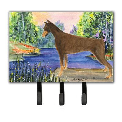 Doberman Leash Holder and Key Hook