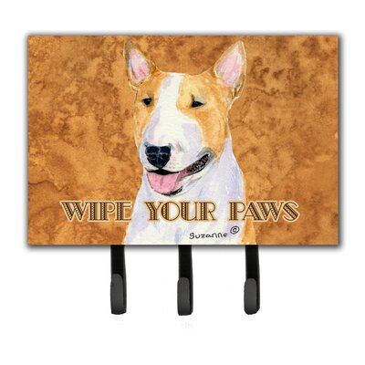 Bull Terrier Wipe Your Paws Leash Holder and Key Holder