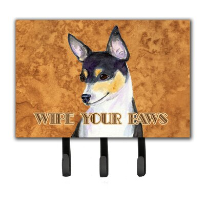Toy Fox Terrier Wipe Your Paws Leash Holder and Key Holder