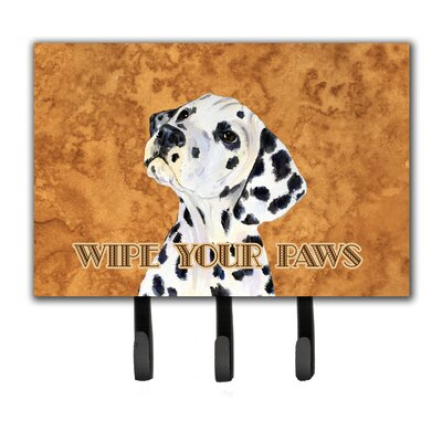 Dalmatian Wipe Your Paws Leash Holder and Key Holder