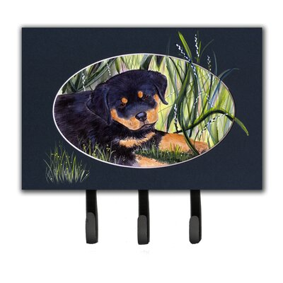 Rottweiler Leash Holder and Key Hook