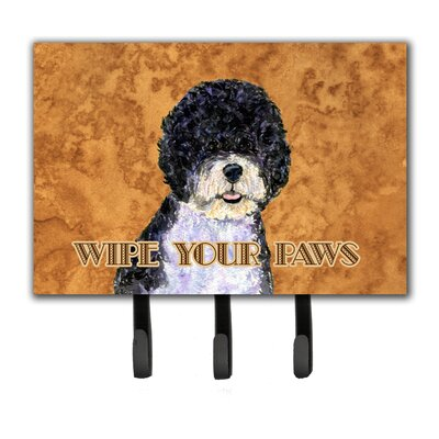 Portuguese Water Dog Wipe Your Paws Leash Holder and Key Holder