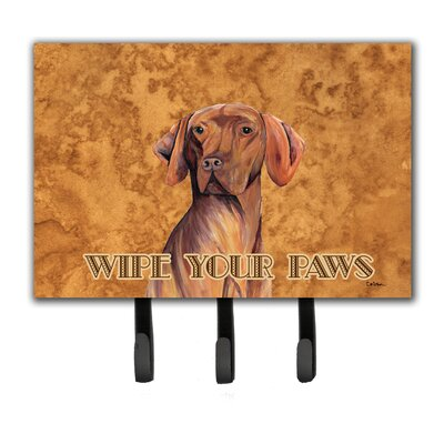 Vizsla Wipe Your Paws Leash Holder and Key Hook