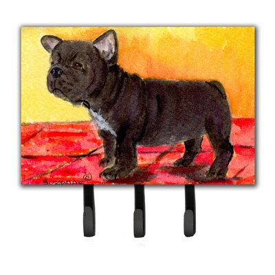 French Bulldog Leash Holder and Key Hook