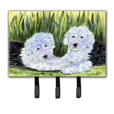 Old English Sheepdog Leash Holder and Key Hook