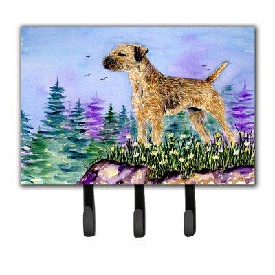 Border Terrier Leash Holder and Key Hook