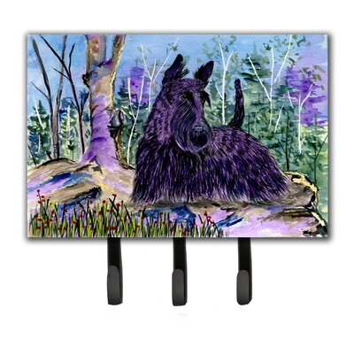 Scottish Terrier Leash Holder and Key Hook