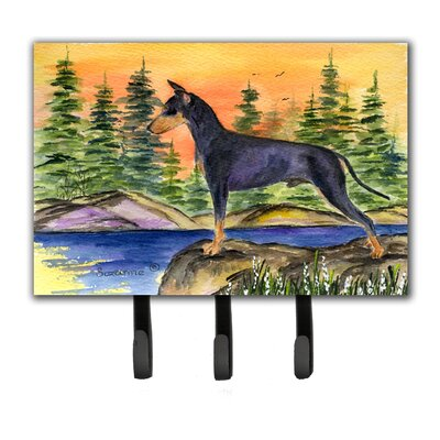 Manchester Terrier Leash Holder and Key Hook