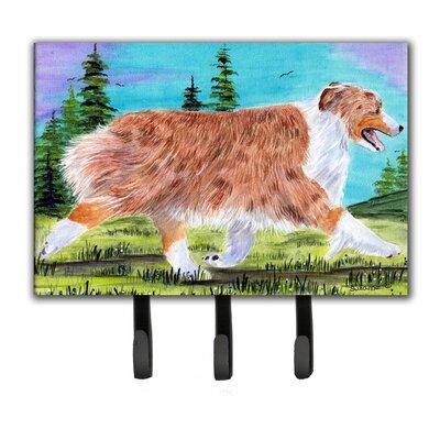 Australian Shepherd Leash Holder and Key Hook