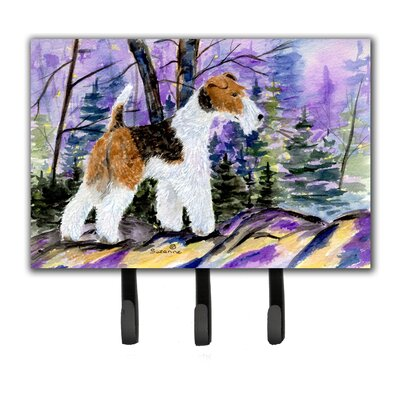 Fox Terrier Leash Holder and Key Hook