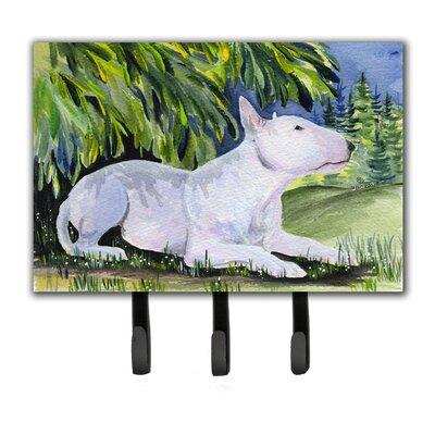 Bull Terrier Leash Holder and Key Hook