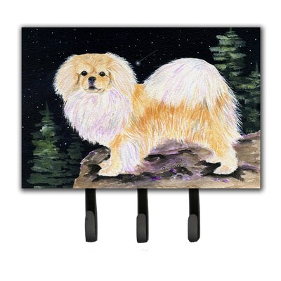 Starry Night Tibetan Spaniel Leash Holder and Key Hook