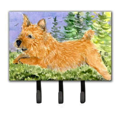 Norwich Terrier Leash Holder and Key Hook