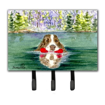 Springer Spaniel Leash Holder and Key Hook