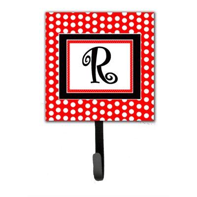 Monogram Polka Dots Wall Hook Letter: R