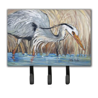 Heron in The Reeds Leash Holder and Key Hook