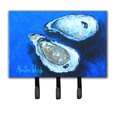 Oysters Seafood Four Leash Holder and Key Hook