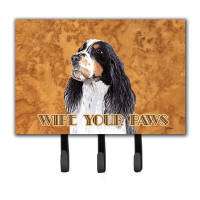 Springer Spaniel Wipe Your Paws Leash Holder and Key Hook