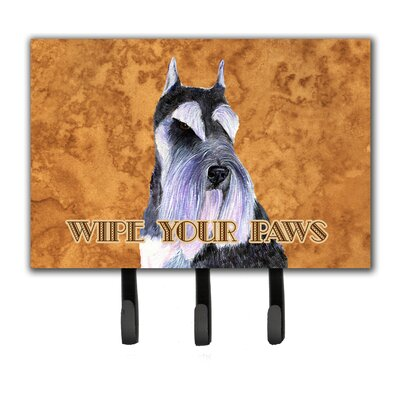 Schnauzer Wipe Your Paws Leash Holder and Key Holder