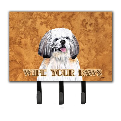 Shih Tzu Wipe Your Paws Leash Holder and Key Hook