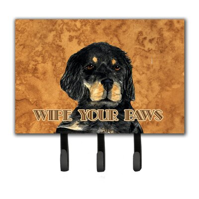 Gordon Setter Wipe Your Paws Leash Holder and Key Holder