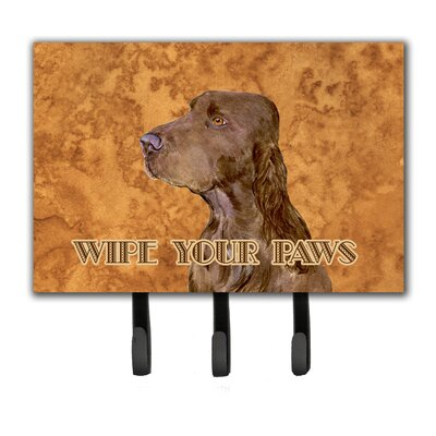 Field Spaniel Wipe Your Paws Leash Holder and Key Holder