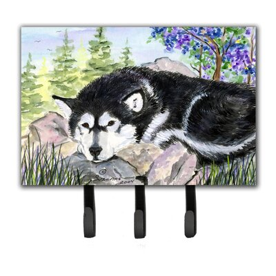 Alaskan Malamute Leash Holder and Key Hook