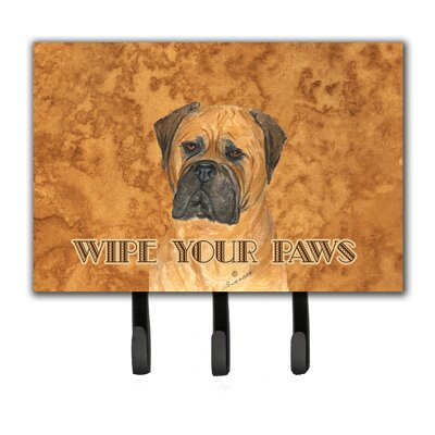 Bullmastiff Wipe Your Paws Leash Holder and Key Holder