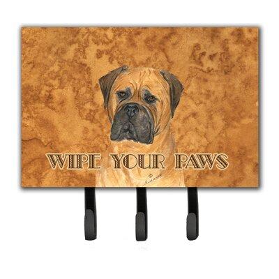 Bullmastiff Wipe Your Paws Leash Holder and Key Holder