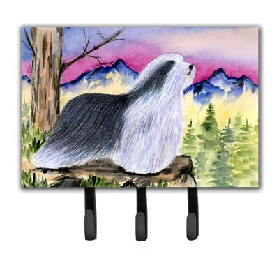 Bearded Collie Leash Holder and Key Hook