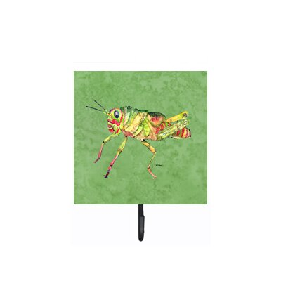Grasshopper on Avacado Leash Holder and Wall Hook