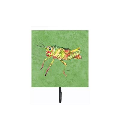 Grasshopper on Avacado Leash Holder and Wall Hook