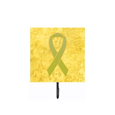 Ribbon For Sarcoma, Bone Or Bladder Cancer Awareness Leash Holder and Wall Hook