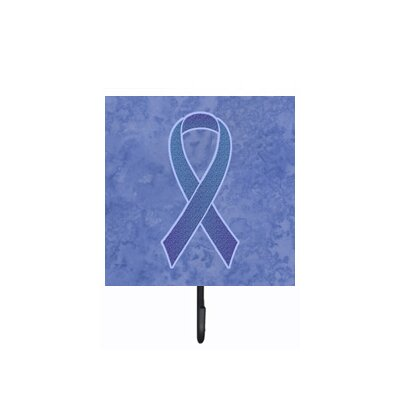 Periwinkle Ribbon For Esophageal and Stomach Cancer Awareness Leash Holder and Wall Hook
