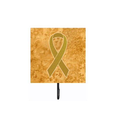 Ribbon for Childhood Cancers Awareness Leash Holder and Wall Hook