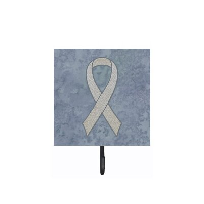Clear Ribbon For Lung Cancer Awareness Leash Holder and Wall Hook