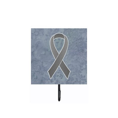 Grey Ribbon For Brain Cancer Awareness Leash Holder and Wall Hook