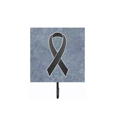 Ribbon For Melanoma Cancer Awareness Leash Holder and Wall Hook