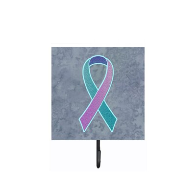 Ribbon For Thyroid Cancer Awareness Leash Holder and Wall Hook