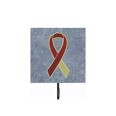 Ribbon For Head and Neck Cancer Awareness Leash Holder and Wall Hook