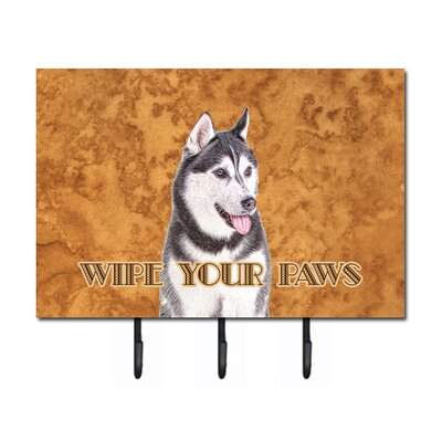 Alaskan Malamute Wipe Your Paws Leash Holder and Key Hook