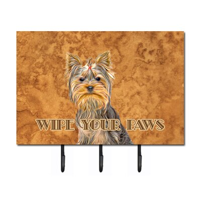 Schnauzer Wipe Your Paws Leash Holder and Key Hook