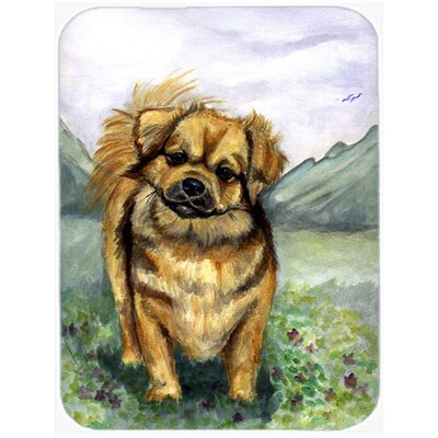 Tibetan Spaniel Glass Cutting Board