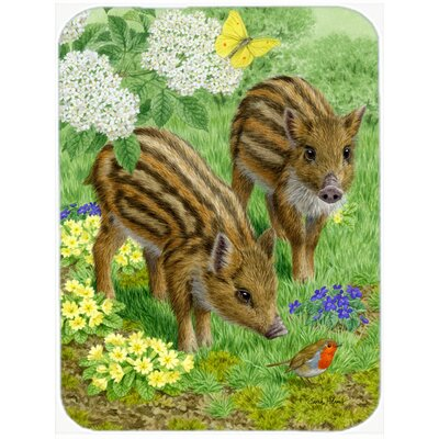 Wild Boar Glass Cutting Board