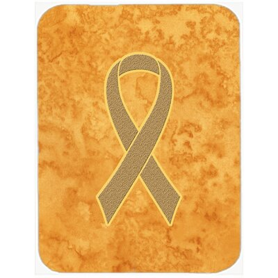 Ribbon for Awareness Glass Cutting Board Color: Peach