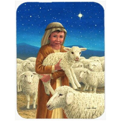 Shepherd and His Sheep Glass Cutting Board